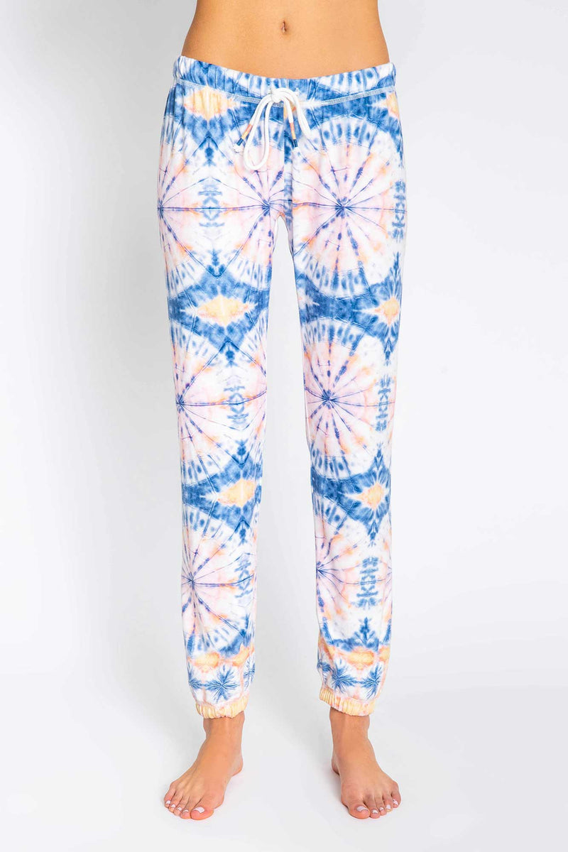 Hello Sunshine Tie Dye Banded Pants