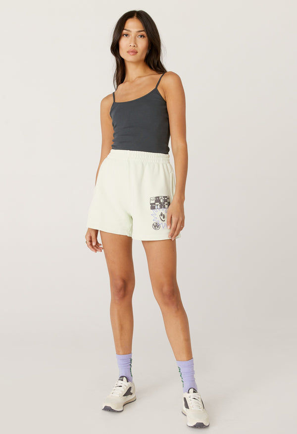 Checker Logo Boyfriend Sweatshort