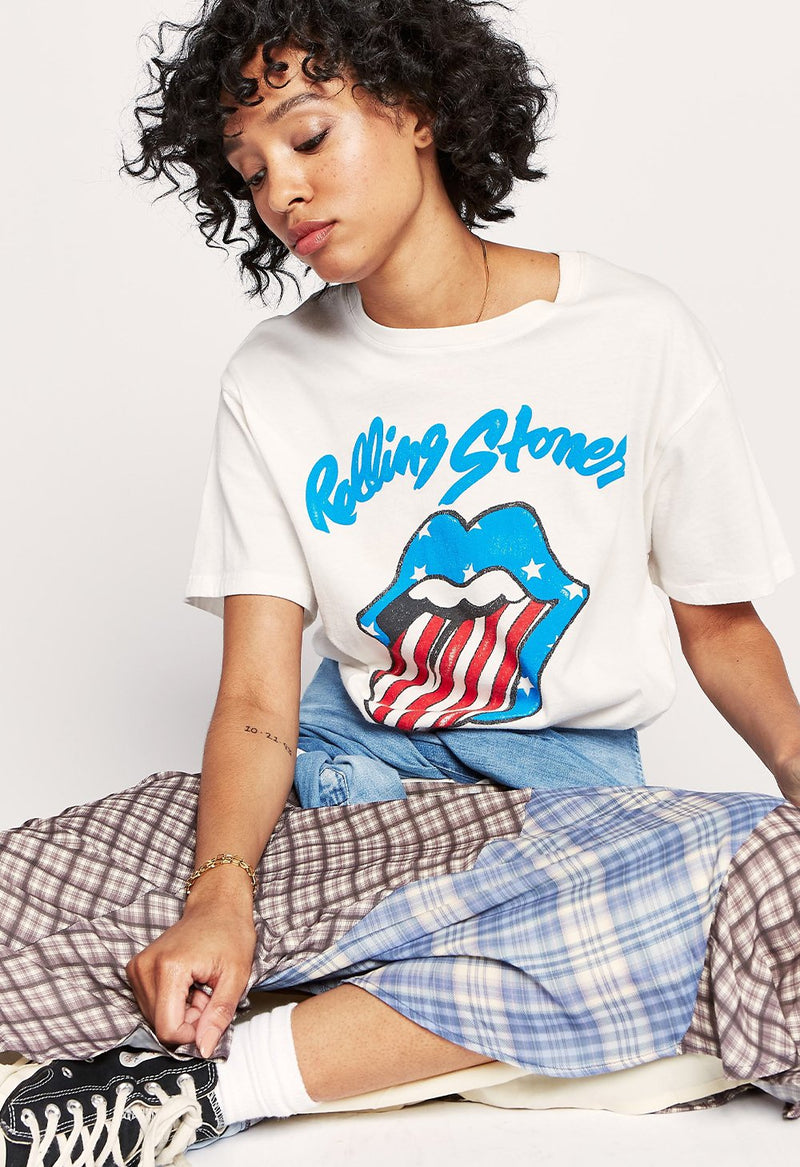Rolling Stones Stars and Stripes Boyfriend Tee