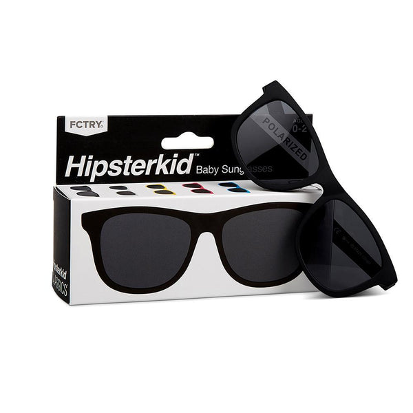 Hipsterkid Black Baby Sunglasses - Infant Glasses - Baby Glasses - Sunglasses - Baby Sunnies - Children's Clothing Store - Kid's Store - Baby Store - Camp Crib - Big Bear Lake California