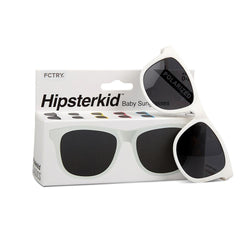 Hipsterkid White Baby Sunglasses - Infant Glasses - Baby Glasses - Sunglasses - Baby Sunnies - Children's Clothing Store - Kid's Store - Baby Store - Camp Crib - Big Bear Lake California