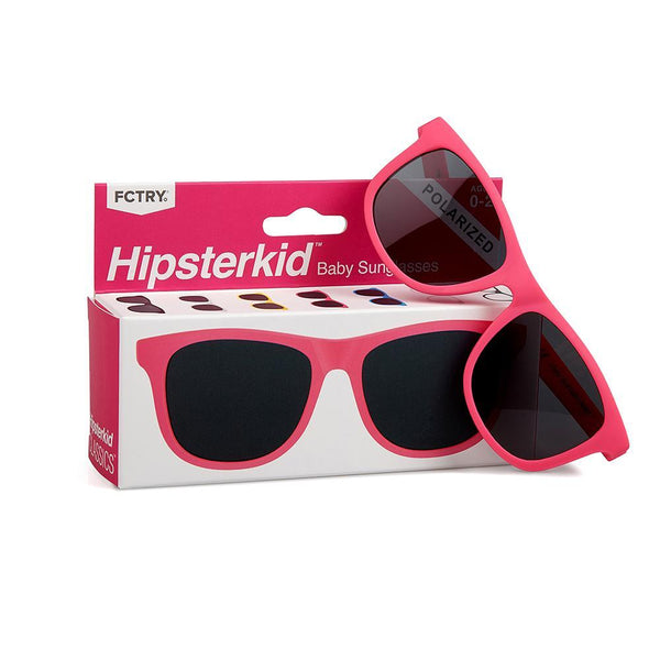 Hipsterkid Pink Baby Sunglasses - Infant Glasses - Baby Glasses - Sunglasses - Baby Sunnies - Children's Clothing Store - Kid's Store - Baby Store - Camp Crib - Big Bear Lake California