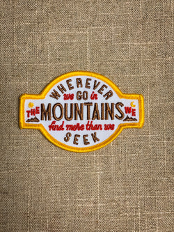 Wherever We Go Patch
