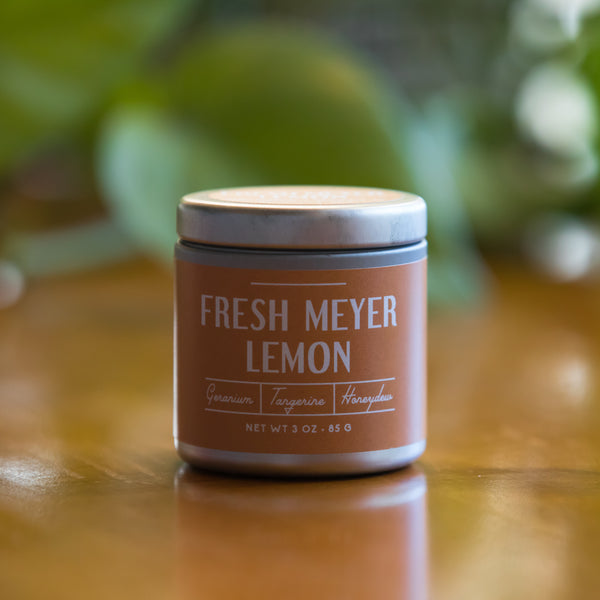 Fresh Meyer Lemon Tin Candle