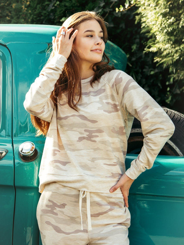 Thread & Supply Jacey Top - Comfy Long Sleeve - Women's Long Sleeve - Women's Clothing Store - Ladies Boutique - O KOO RAN - Big Bear Lake California