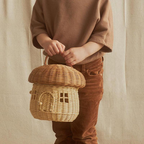 Mushroom Bag - Olli Ella - Camp Crib - Rattan Bag - Children's Accessories - Big Bear Lake - California