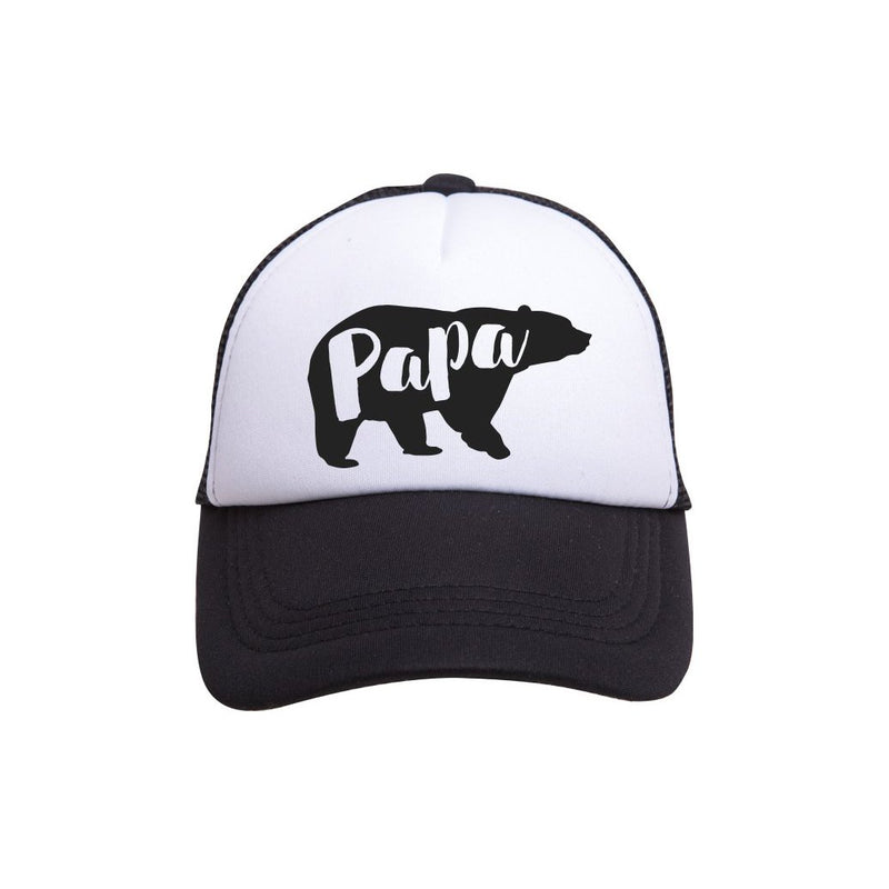 Tiny Trucker Co Papa Bear Trucker Hat - Tiny Trucker Co - Trucker Hat - Papa Bear Hat - Dad Hat - Papa Bear - Children's Clothing Store - Baby Store - Camp Crib - Big Bear Lake California