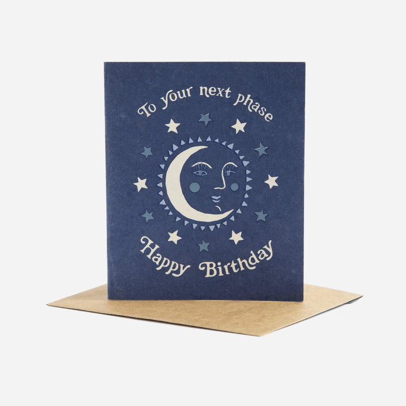 Printfresh Next Phase Greeting Card - Greeting Card - Moon Card - Gift - Gifts - Women's Clothing Store - Ladies Boutique - O KOO RAN - Big Bear Lake California