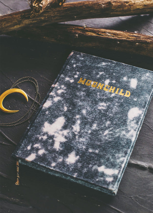 Printfresh Moonchild Journal - Velvet Journal - Crushed Velvet Journal - Journal - Notebook - Women's Clothing Store - Ladies Boutique - O KOO RAN - Big Bear Lake California