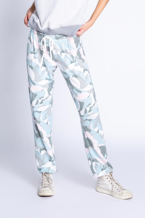 Camo Bloom Banded Pant