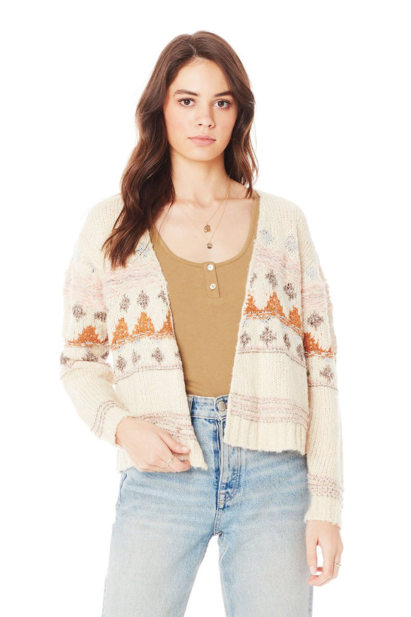 Saltwater Luxe April Sweater - Cropped Cardigan - Fall Sweater - Knit Jacket - Women's Clothing Store - Ladies Boutique - O KOO RAN - Big Bear Lake California