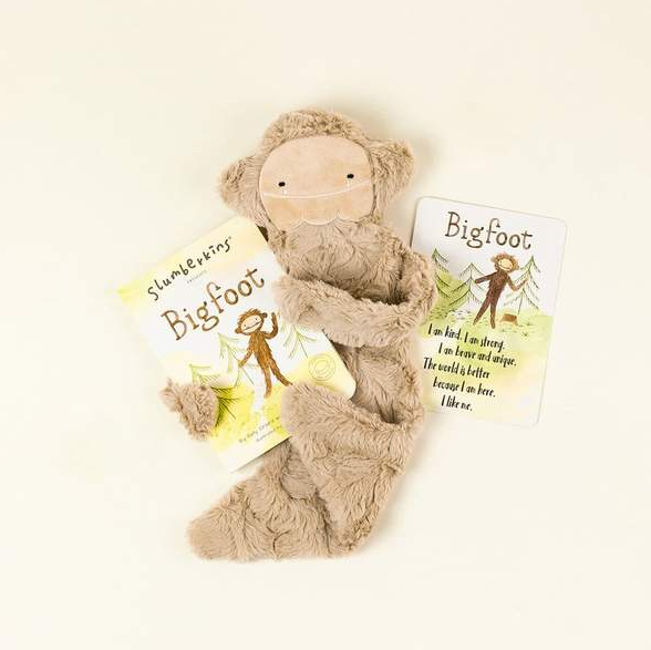 Slumberkins Bigfoot Snuggler Bundle - Baby Stuffed Animal - Security Blanket - Children's Boutique - Baby Clothing Store - Camp Crib - Big Bear Lake California