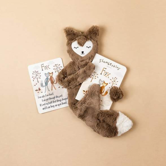 Slumberkins Maple Fox Snuggler Bundle  - Baby Stuffed Animal - Security Blanket - Children's Boutique - Baby Clothing Store - Camp Crib - Big Bear Lake California