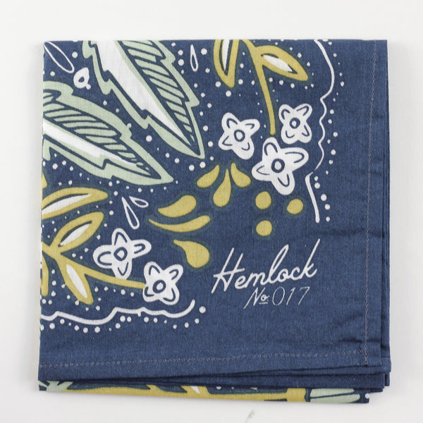 Hemlock Amelia Bandana - Handkerchief - Neckerchief - Women's Accessory - Women's Clothing Store - Ladies Boutique - O KOO RAN - Big Bear Lake California