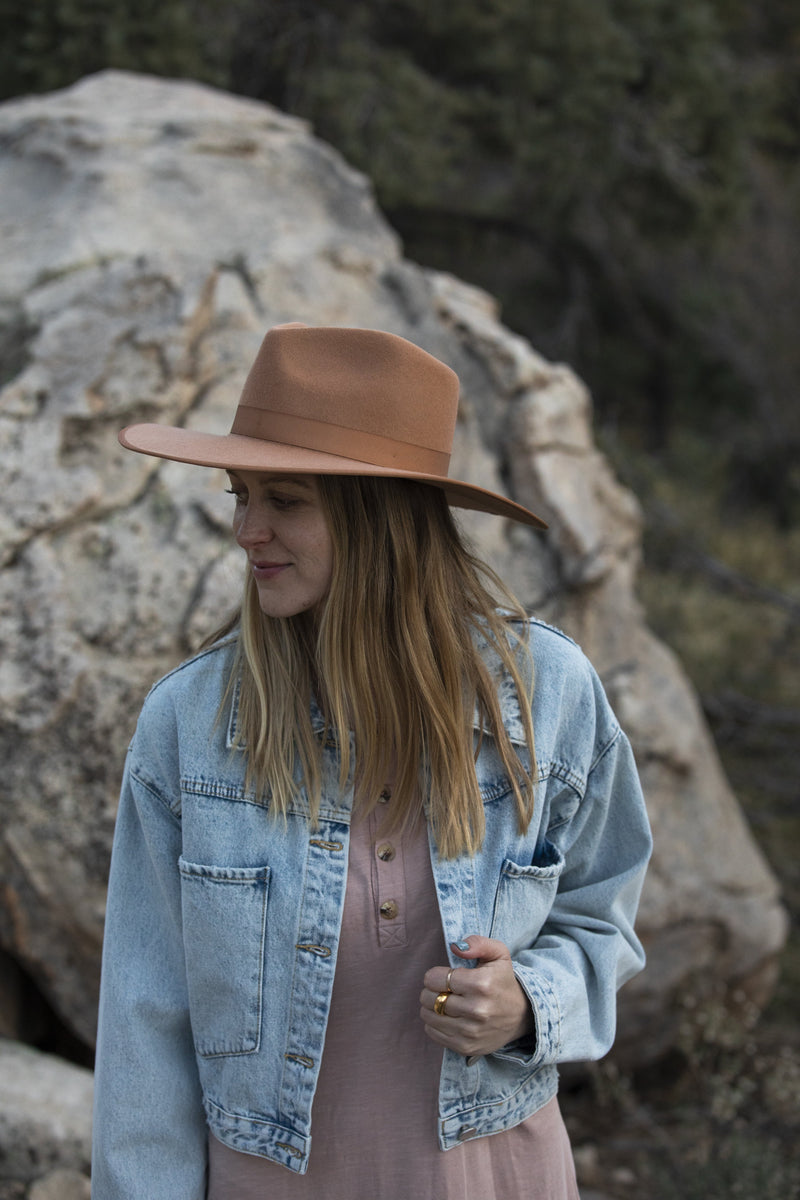 Lack of Color Teak Rancher - Wool Felt Hat - Women's Hat - Accessory - Women't Clothing Store - Women's Shoe Store - Accessories - O KOO RAN - Big Bear Lake California