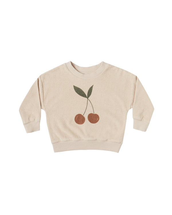 Terry Cherries Crew Neck