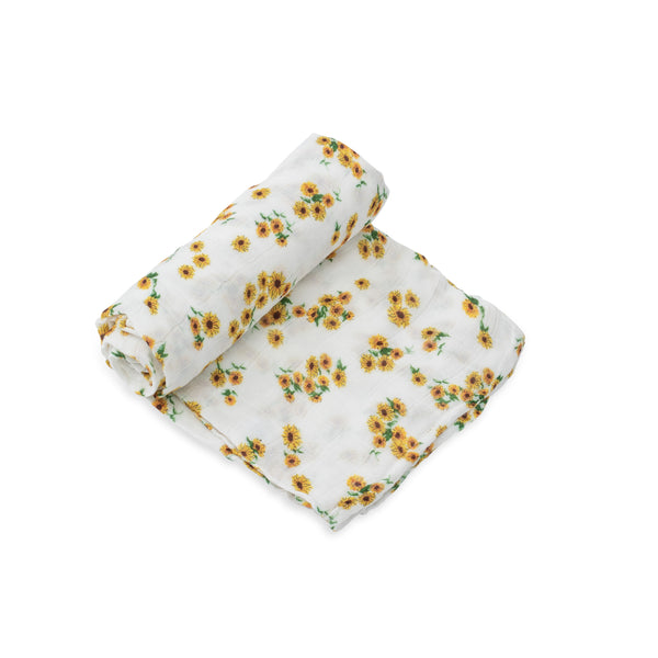 Ditsy Sunflower Deluxe Swaddle