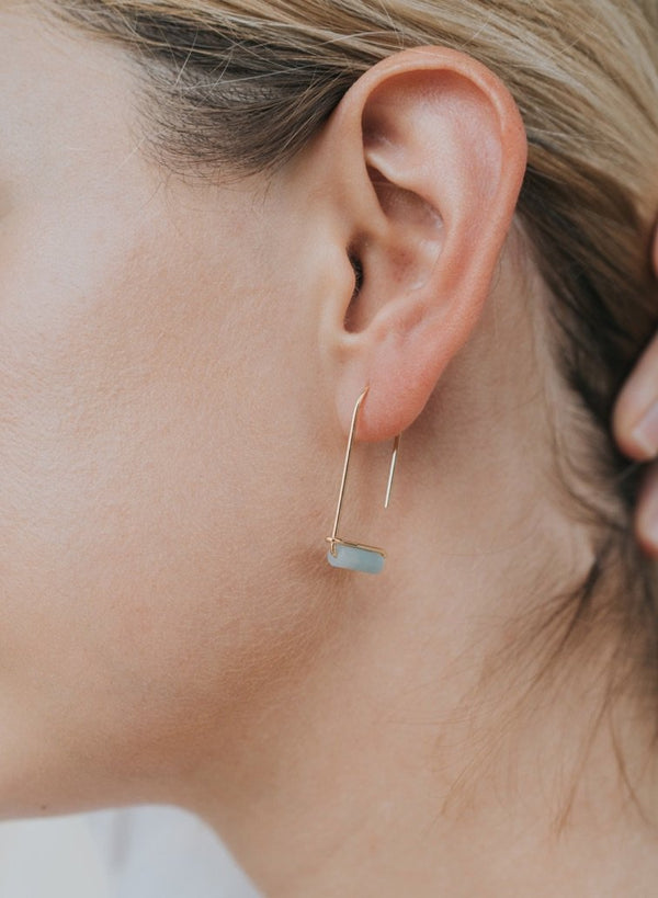 Gemstone Drop Earring - Amazonite