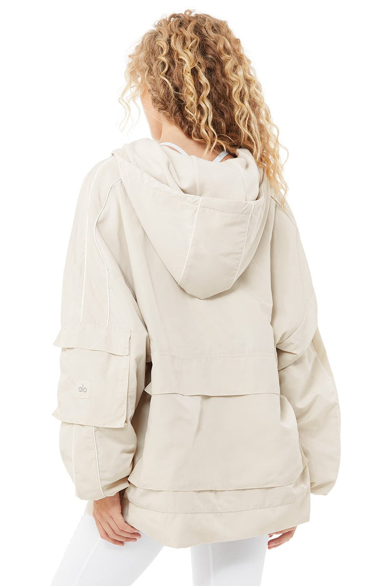 ALo Yoga Reversible Legion Jacket - Women's Outerwear - Coat - Zip Up Hoodie - Women's Clothing Store - Women's Accessories - Ladies Boutique - O KOO RAN - Big Bear Lake California