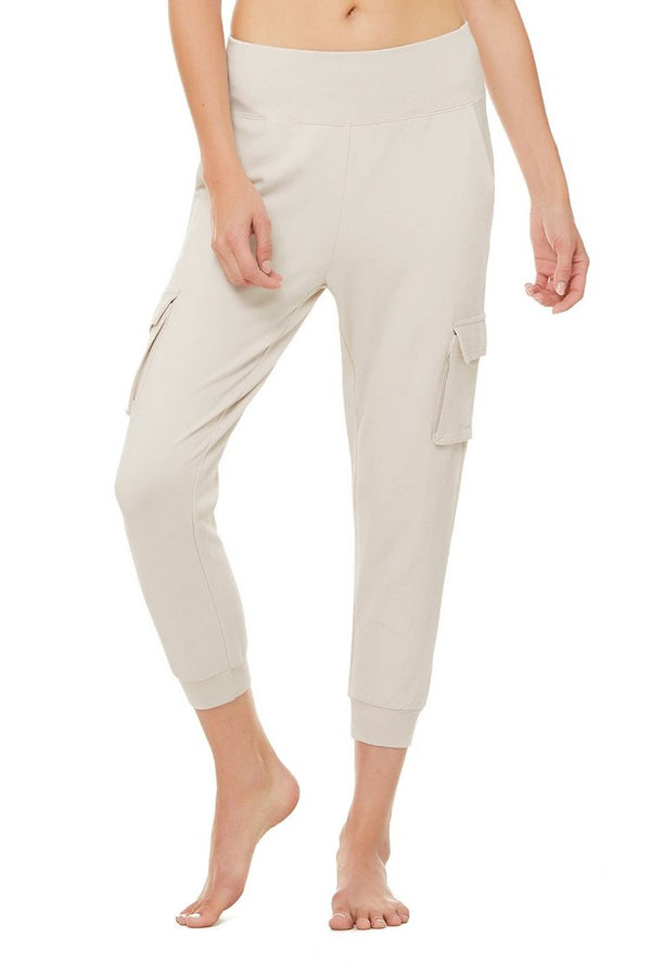 Alo Yoga High Waist Cargo Sweatpant - Sweats - Loungewear - Activewear - Alo Yoga - Women's Clothing Store - Ladies Boutique - O KOO RAN - Big Bear Lake California