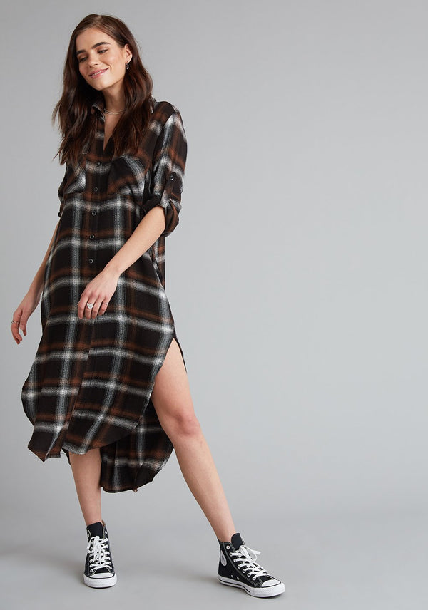 Bella Dahl Two Pocket Duster Dress - Fall Long Sleeve - Long Sleeve Top - Long Sleeve Dress - Women's Clothing Store - Ladies Boutique - O KOO RAN - Big Bear Lake California