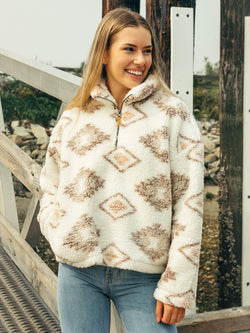 Thread & Supply Walking Poetry Pullover - Women's Pullover - Ladies Jacket - Fall Sweater - Cozy Sweater - Women's Clothing Store - Ladies Boutique - O KOO RAN - Big Bear Lake California