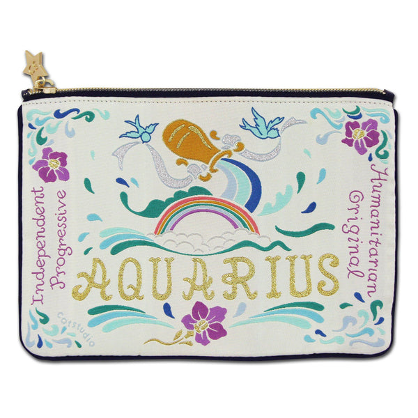 Aquarius Astrology Zip Pouch