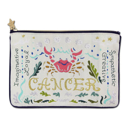 Cancer Astrology Zip Pouch