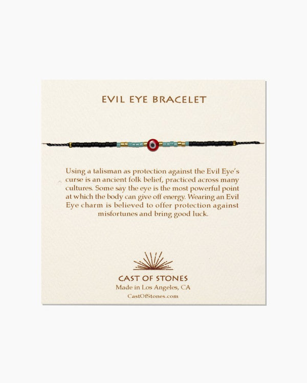 Cast of Stones Evil Eye Bracelet Red with Turquoise - Bracelet - Jewelry - Evil Eye - Women's Clothing Store - Women's Accessories - Ladies Boutique - O KOO RAN - Big Bear Lake California
