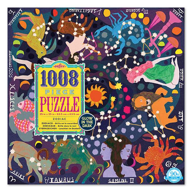Zodiac Puzzle - Glow In The Dark Puzzle - Puzzle - Cabin Game - Family Puzzle - Games - Women's Clothing Store -Women's Accessories - Ladies Boutique - O KOO RAN - Big Bear Lake California