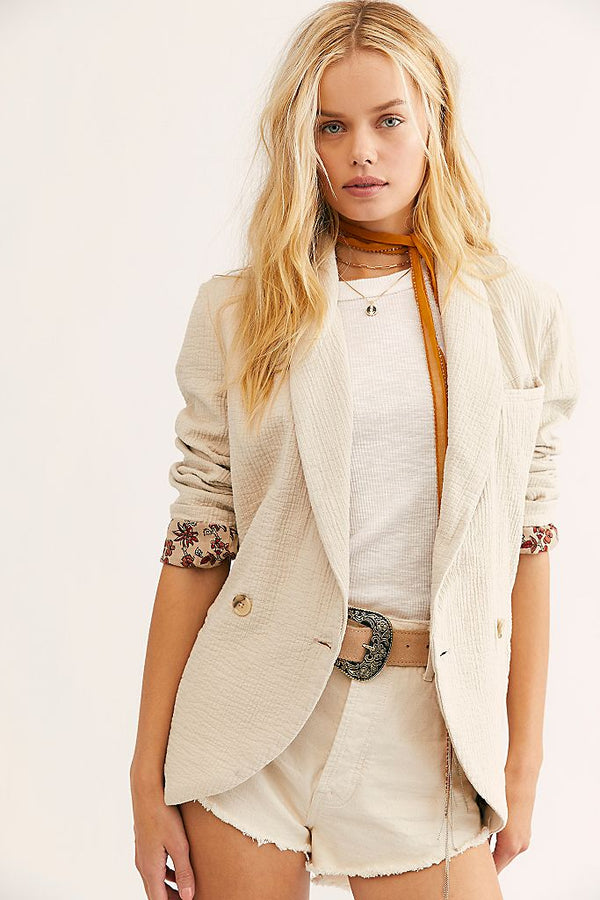 Free People Rowan Blazer - Ladies Jacket - Women's Coat - Women's Clothing Store - Women's Accessories - Ladies Boutique - O KOO RAN - Big Bear Lake California