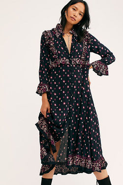 Free People Calico Skies Midi Dress - Floral Maxi Dress - Women's Clothing Store - Women's Accessories - Ladies Boutique - O KOO RAN - Big Bear Lake California