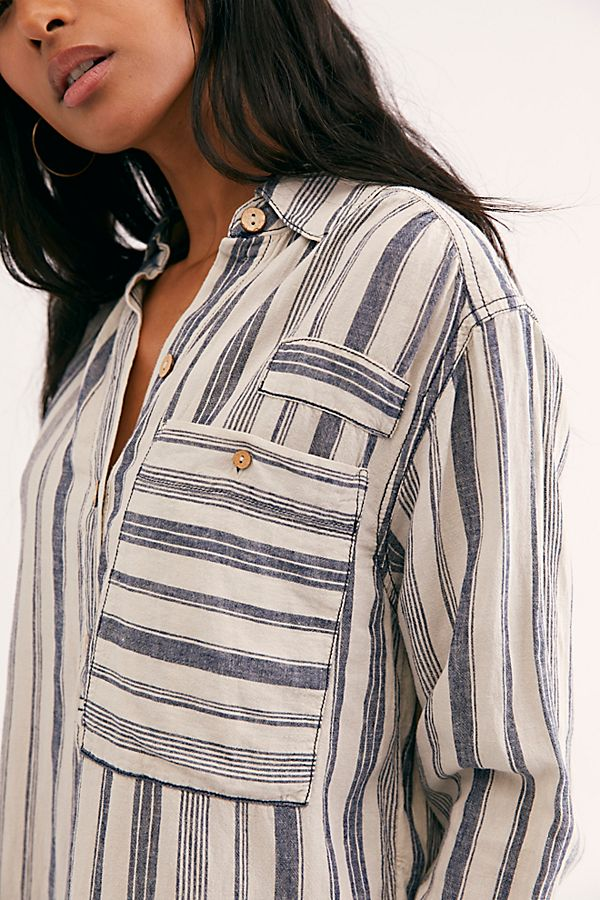 Free People Summer Breeze Stripe Pullover - Striped Shirt - Long Sleeve - Women's Clothing Store - Women's Accessories - Ladies Boutique - O KOO RAN - Big Bear Lake California