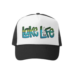 Grom Squad - Lake Life Trucker Hat - Baby Trucker Hat - Kids Trucker Hat - Infant Accessories - Baby Clothing Store - Children's Boutique - Camp Crib - Big Bear Lake California