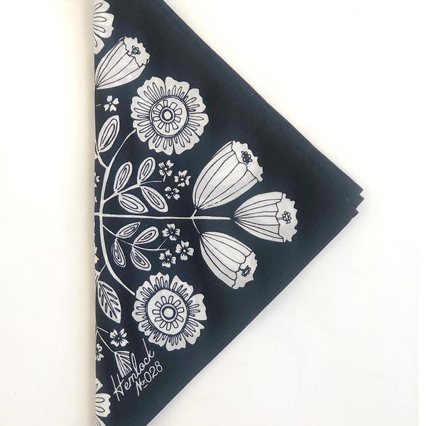 Hemlock Fiona Bandana - Handkerchief - Neckerchief - Women's Accessory - Women's Clothing Store - Ladies Boutique - O KOO RAN - Big Bear Lake California