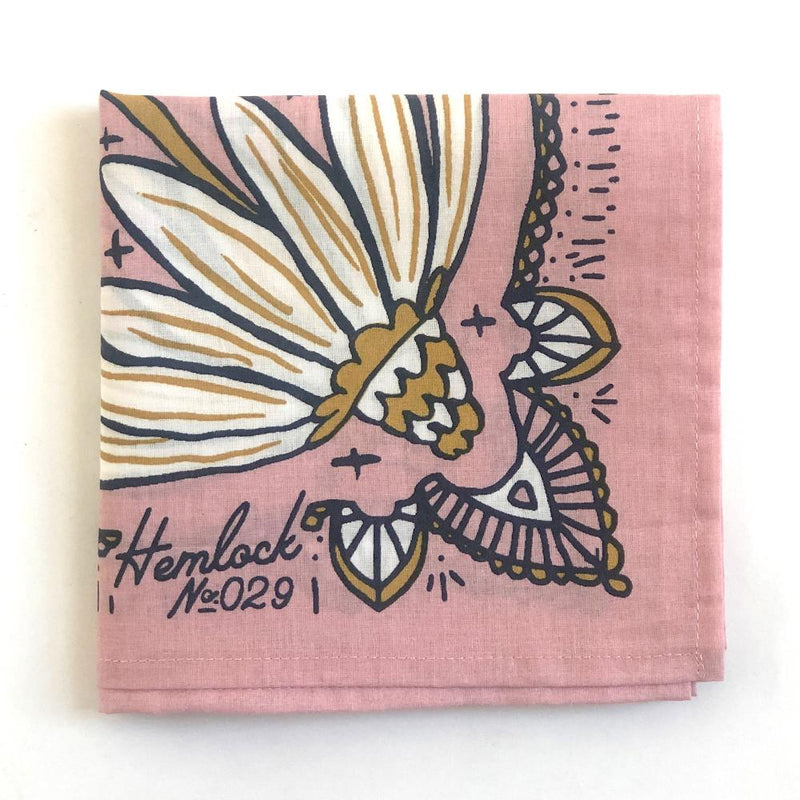Hemlock Maude Bandana - Handkerchief - Neckerchief - Women's Accessory - Women's Clothing Store - Ladies Boutique - O KOO RAN - Big Bear Lake California