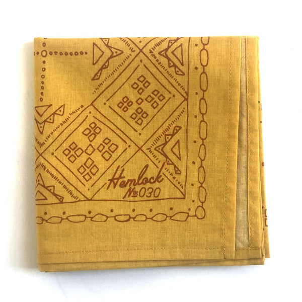 Hemlock Goldie Bandana - Handkerchief - Neckerchief - Women's Accessory - Women's Clothing Store - Ladies Boutique - O KOO RAN - Big Bear Lake California