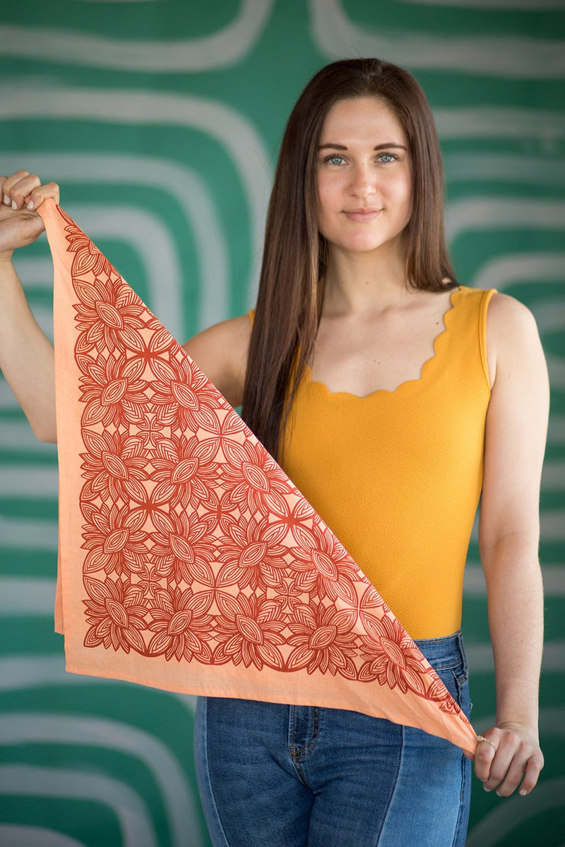 Hemlock Ocala Bandana - Handkerchief - Neckerchief - Women's Accessory - Women's Clothing Store - Ladies Boutique - O KOO RAN - Big Bear Lake California