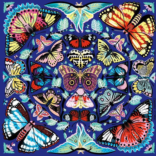 Kaleidoscope Butterflies Puzzle - Game - Puzzle Games - Cabin Games - Family Activity - Women's Clothing Store - Women's Accessories - Gift Store - O KOO RAN - Big Bear Lake California