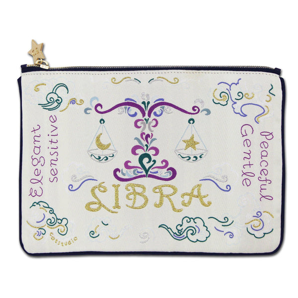 Libra Astrology Zip Pouch