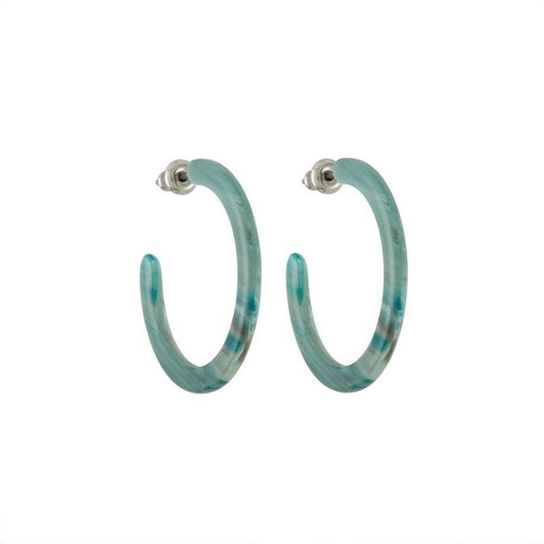 Machete Mini Hoops In Jadeite Green - Hoops - Earrings - Unique Jewelry - Accessories - Women's Boutique - Women's Clothing Store - Women's Accessories - O KOO RAN - Big Bear Lake California