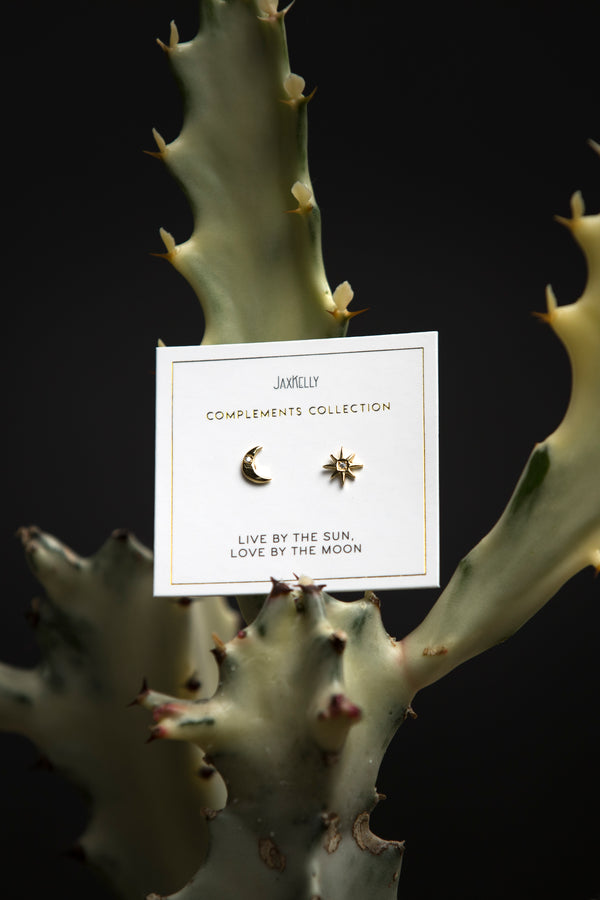 JaxKelly Sun + Moon Earrings - Jewelry - Women's Clothing Store - Ladies Boutique - Accessories - O KOO RAN - Big Bear Lake California