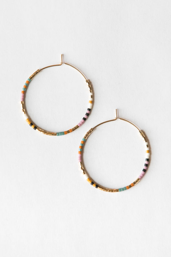 On The Lookout Lilac Serpent Hoops - Gold Earrings - Gold Hoop Earring - Handmade Jewelry - Hand Crafted - Gold Fill Jewelry - Women's Clothing Store - Women's Accessories - Ladies Boutique - O KOO RAN - Big Bear Lake California