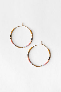 On The Lookout Wildflower Serpent Hoops - Gold Earrings - Gold Hoop Earring - Handmade Jewelry - Hand Crafted - Gold Fill Jewelry - Women's Clothing Store - Women's Accessories - Ladies Boutique - O KOO RAN - Big Bear Lake California