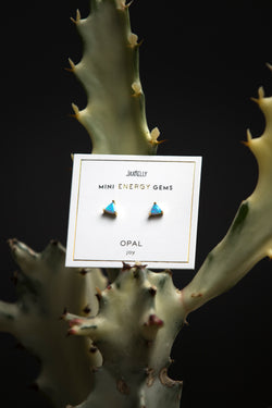 JaxKelly Opal Mini Energy Gem Earrings - Jewelry - Women's Clothing Store - Ladies Boutique - Accessories - O KOO RAN - Big Bear Lake California
