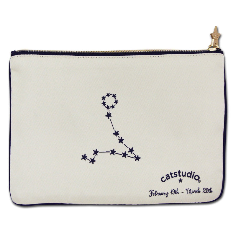 Pisces Astrology Zip Pouch