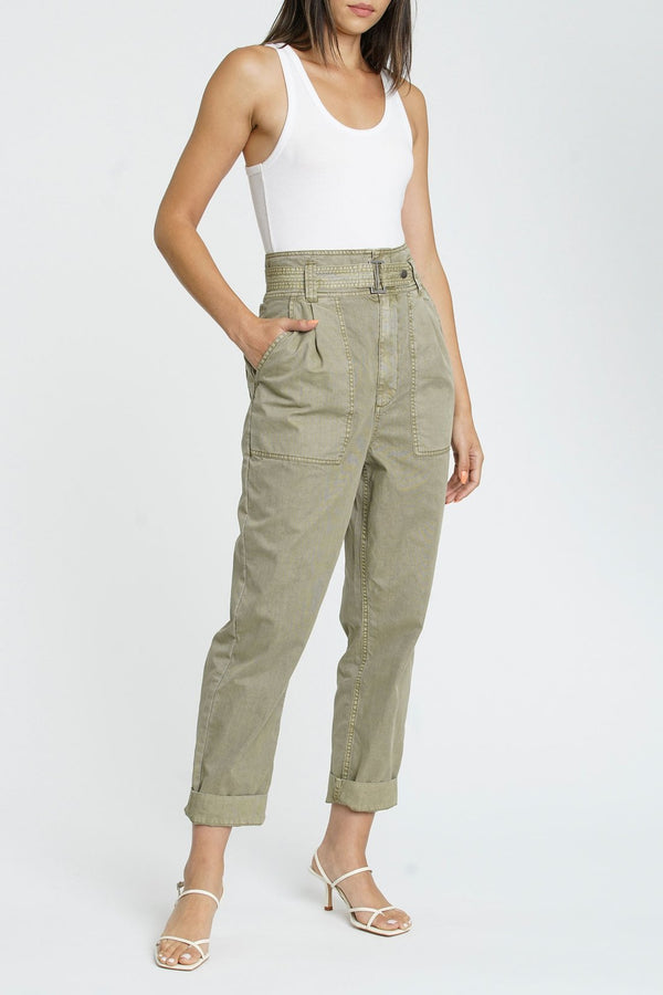 Pistola Denim Ari Belted High Rise Field Pant - High Waisted Pants - Belted Pants - Women's Clothing Store - Women's Accessories - Ladies Boutique - O KOO RAN - Big Bear Lake California