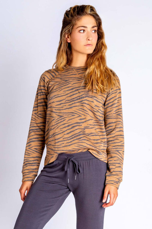 PJ Salvage Wild One Long Sleeve - Women's Loungewear - Pajamas - PJ's - Women's Clothing Store - Ladies Boutique - O KOO RAN - Big Bear Lake California