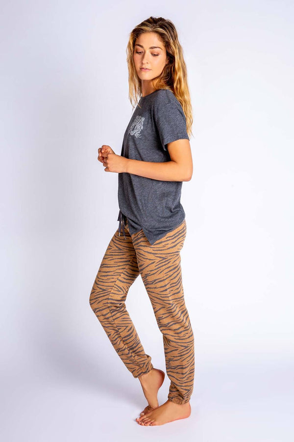 PJ Salvage Wild One Banded Pant - Women's Loungewear - Pajamas - PJ's - Women's Clothing Store - Ladies Boutique - O KOO RAN - Big Bear Lake California