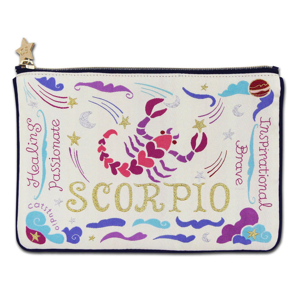 Scorpio Astrology Zip Pouch